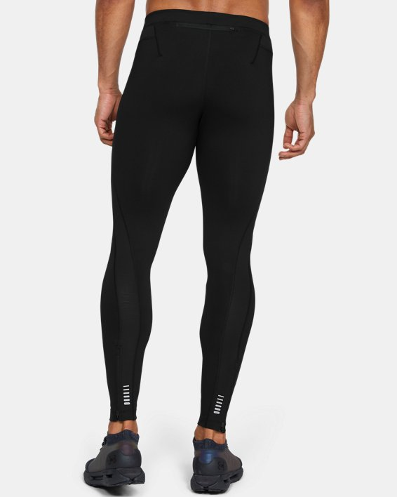 Men's UA RUSH™ Run HeatGear® Tights, Black, pdpMainDesktop image number 2