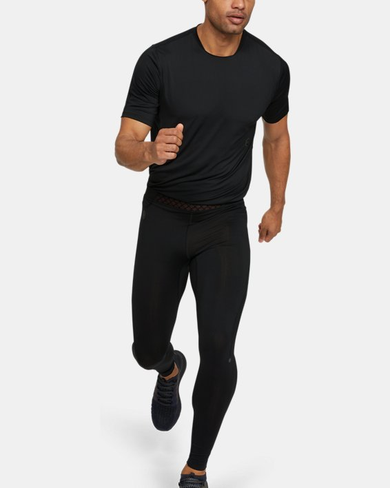Men's UA RUSH™ Run HeatGear® Tights, Black, pdpMainDesktop image number 1