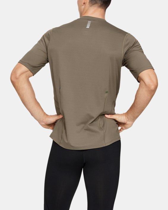 T-shirt de course UA RUSH pour homme, Brown, pdpMainDesktop image number 3