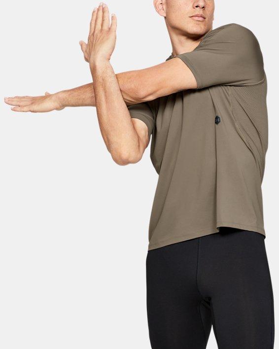 T-shirt de course UA RUSH pour homme, Brown, pdpMainDesktop image number 0