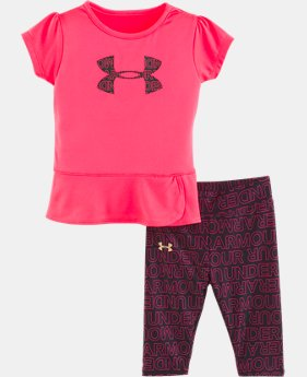 New Arrival Girls' Infant UA Wordmark Set  1  Color Available $35