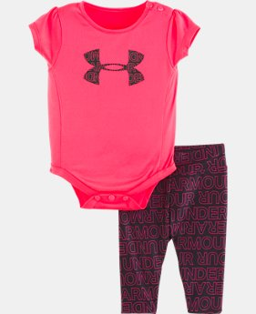 New Arrival Girls' Newborn UA Wordmark Set  1  Color Available $35