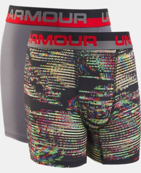 New Arrival Boys' UA Original Series Static Print Boxerjock® 2-Pack  1  Color Available $19.99