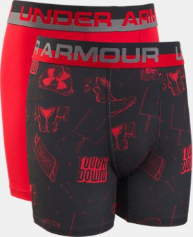 New Arrival Boys' UA Original Series Touchdown Boxerjock® 2-Pack  1  Color Available $19.99