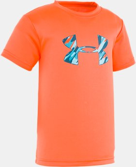 Boys' Toddler UA Rig Big Logo Short Sleeve Shirt  1  Color Available $18