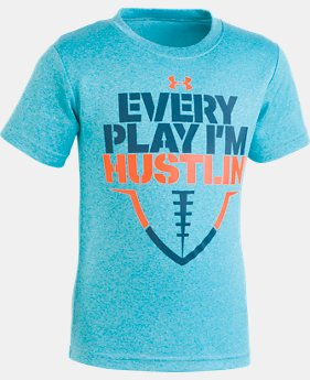 New Arrival Boys' Pre-School UA Every Play I'm Hustlin' Short Sleeve Shirt  1  Color Available $18