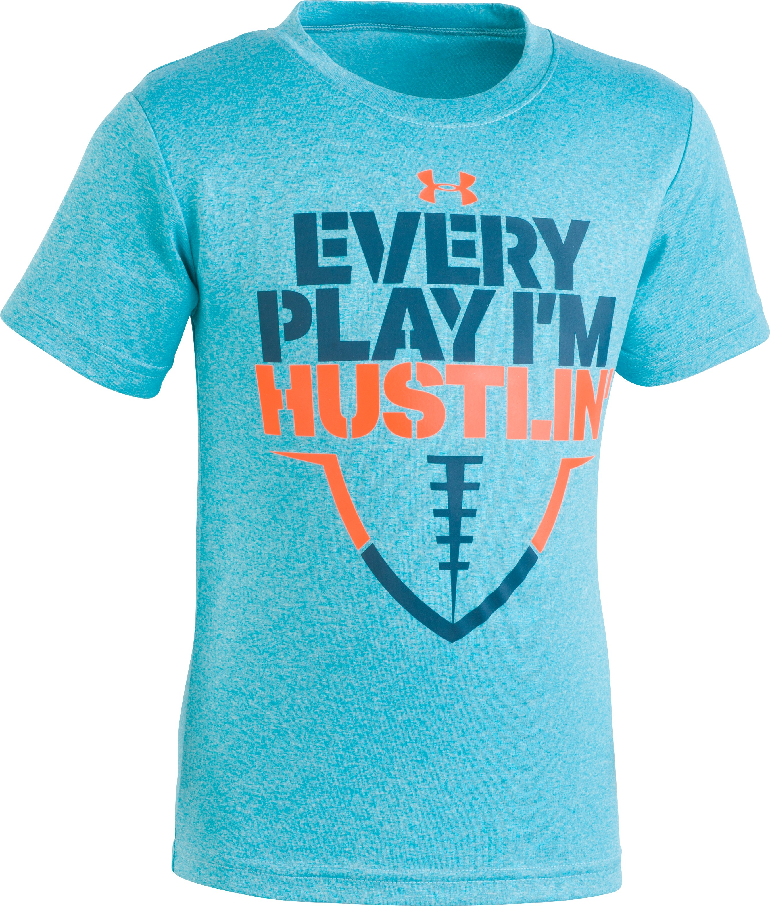 Boys' Toddler UA Every Play I'm Hustlin' Short Sleeve Shirt, Deceit, Laydown
