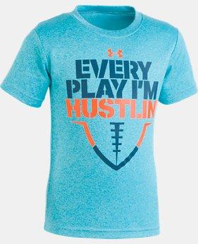 UA Every Play I'm Hustlin' - Chemise à manches courtes pour garçon, tout-petit, 1 couleur offerte – $22