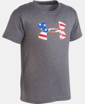 New Arrival Boys' Pre-School UA Americana Big Logo Short Sleeve LIMITED TIME: FREE U.S. SHIPPING 1  Color Available $18