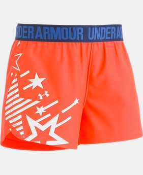 Girls' Infant UA Americana Play Up Shorts  1  Color Available $18