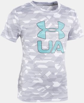 Boys' Pre-School UA Edge Camo Logo Short Sleeve  1  Color Available $25