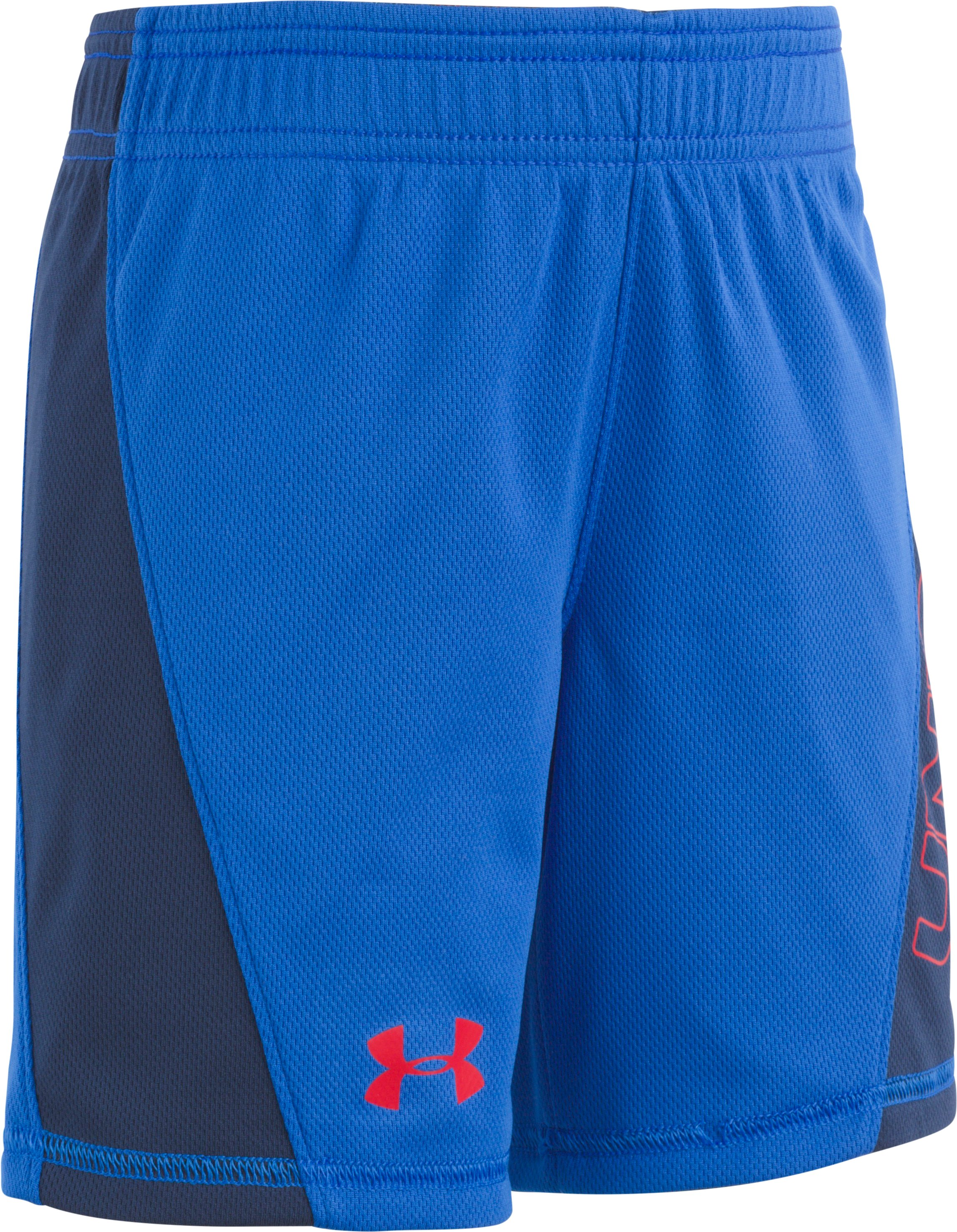 Boys' Pre-School UA Electric Fields Reversible Shorts, ULTRA BLUE, Laydown