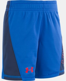 New Arrival Boys' Pre-School UA Electric Fields Reversible Shorts  1  Color Available $28