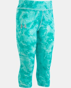 New Arrival Girls' Pre-School UA Glisten Capris  1  Color Available $27