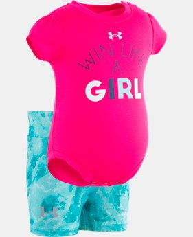 New Arrival Girls' Newborn UA It's Called Girl Power Set   1  Color Available $35