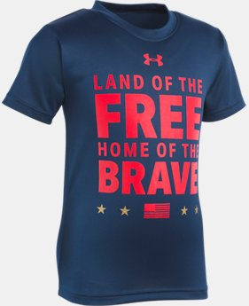 New Arrival Boys' Toddler UA Land Of The Free Short Sleeve LIMITED TIME: FREE U.S. SHIPPING 1  Color Available $18