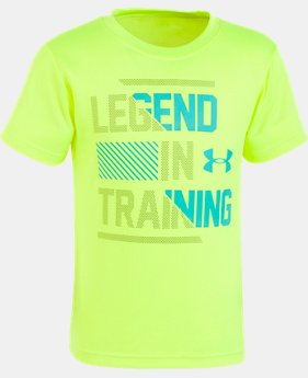 Boys' Toddler UA Legend In Training Short Sleeve FREE U.S. SHIPPING 2  Colors Available $18
