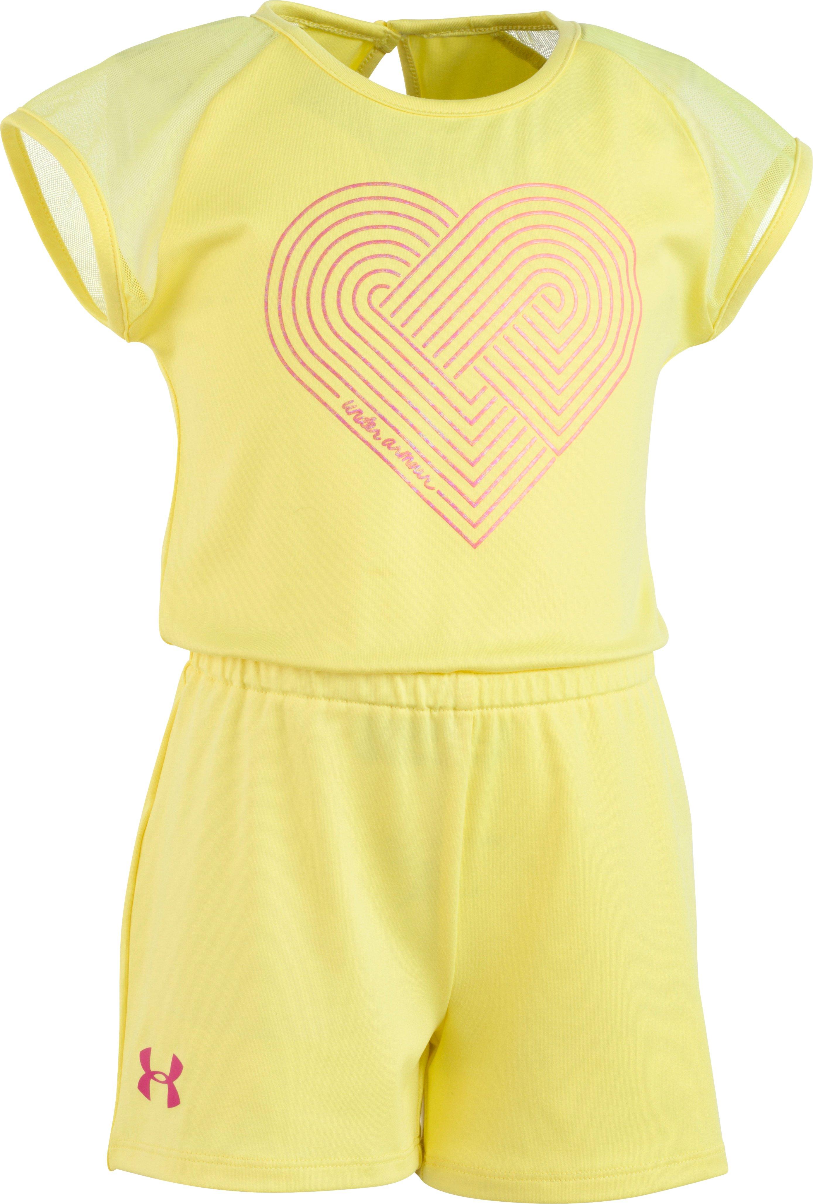 UA Linear Heart Romper — Pre-School | Tuggl