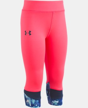 New Arrival Girls' Pre-School UA Meta Quartz Capris  1  Color Available $27