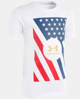 Boys' Pre-School UA USA Short Sleeve  1  Color Available $18