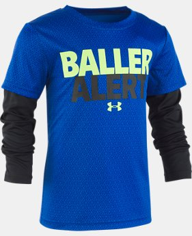 Boys' Pre-School UA Baller Alert Slider Long Sleeve  1  Color Available $30