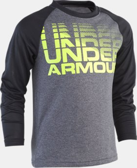 New Arrival Boys' Pre-School UA Wordmark Raglan Long Sleeve  1  Color Available $23