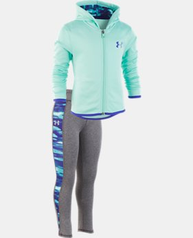 New Arrival  Girls' Pre-School UA Voltage Set  1  Color Available $53
