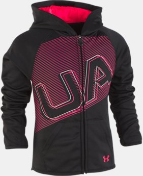 New Arrival Girls' Pre-School UA Elevate The Brand Hoodie  1  Color Available $40