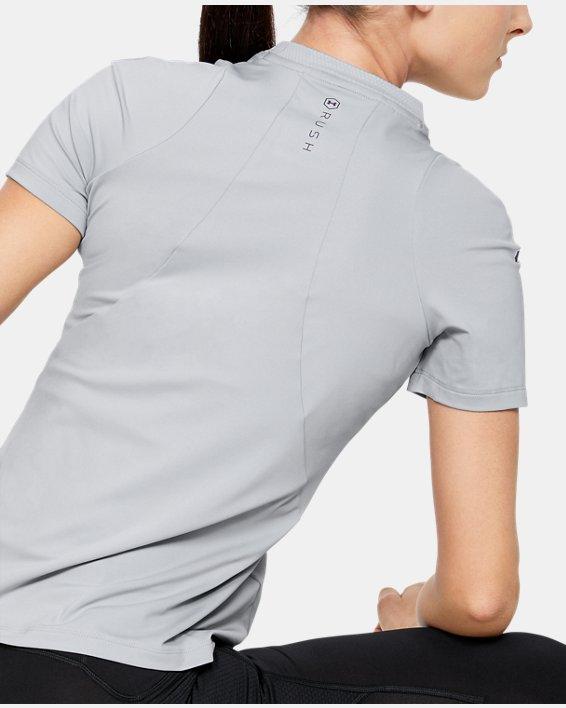 Women's UA RUSH™ Short Sleeve, Gray, pdpMainDesktop image number 2