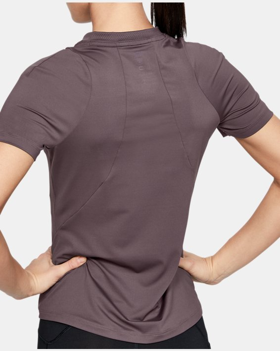 Women's UA RUSH™ Short Sleeve, Gray, pdpMainDesktop image number 2