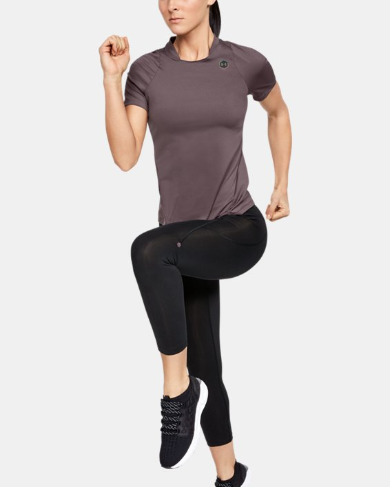 Women's UA RUSH™ Short Sleeve, Gray, pdpMainDesktop image number 1