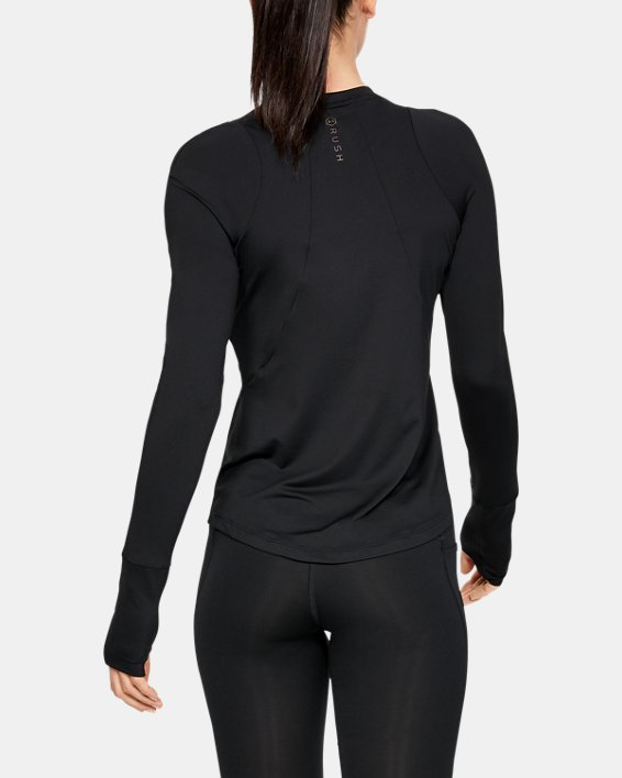 T-shirt à manches longues UA RUSH pour femme, Black, pdpMainDesktop image number 2