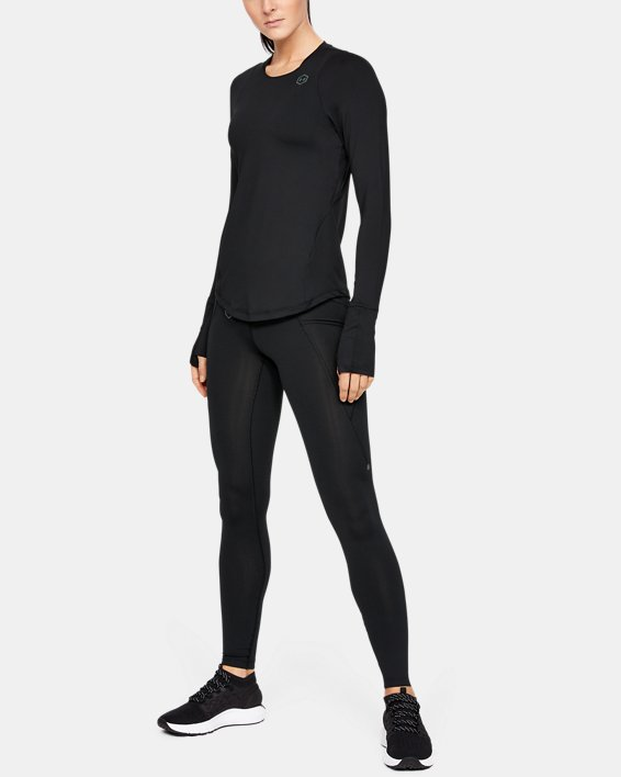 Women's UA RUSH™ Long Sleeve, Black, pdpMainDesktop image number 0