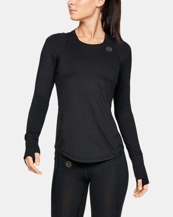 T-shirt à manches longues UA RUSH pour femme, Black, pdpMainDesktop image number 1