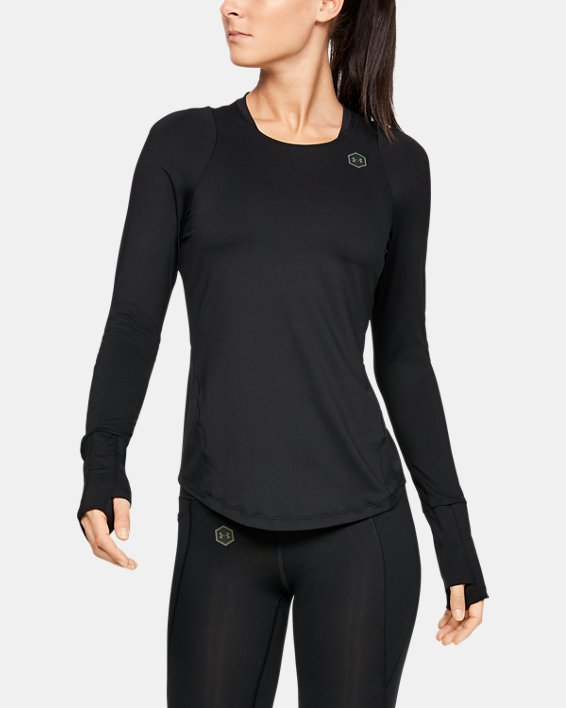 Women's UA RUSH™ Long Sleeve, Black, pdpMainDesktop image number 1