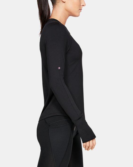 T-shirt à manches longues UA RUSH pour femme, Black, pdpMainDesktop image number 3