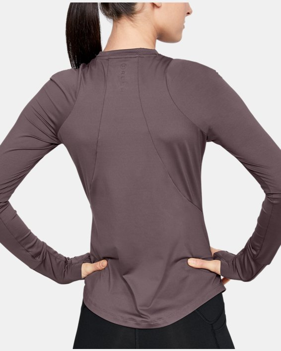 Women's UA RUSH™ Long Sleeve, Gray, pdpMainDesktop image number 2