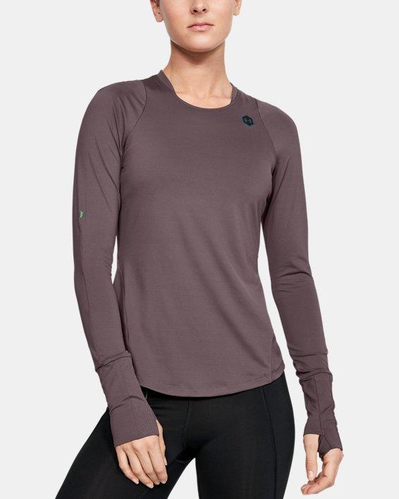 Women's UA RUSH™ Long Sleeve, Gray, pdpMainDesktop image number 0