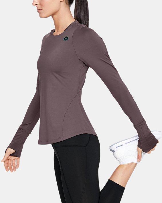 Women's UA RUSH™ Long Sleeve, Gray, pdpMainDesktop image number 3