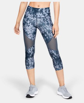 Women's HeatGear® Armour Mesh Print Capri  1  Color Available $45