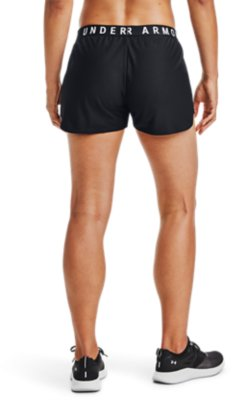 Under Armour UA HeatGear Gym Sports Play Up 2.0 Ash Taupe Ladies Running Shorts