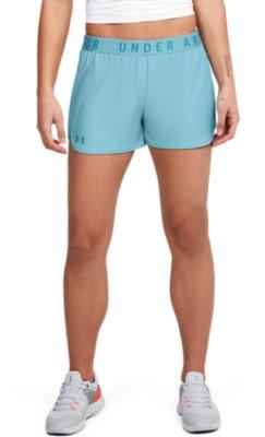 Under Armour UA HeatGear Gym Sports Play Up 2.0 Orange Ladies Running Shorts