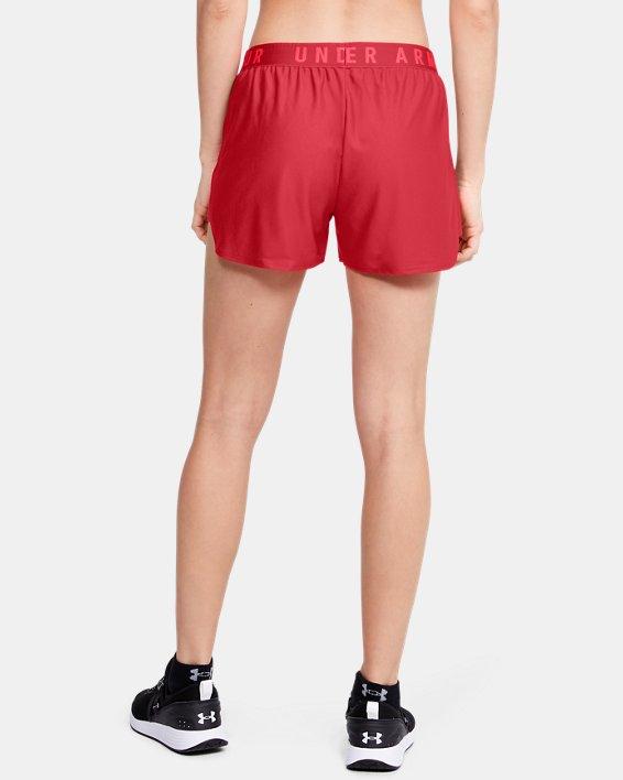 Women's UA Play Up 2.0 Shorts, Red, pdpMainDesktop image number 2