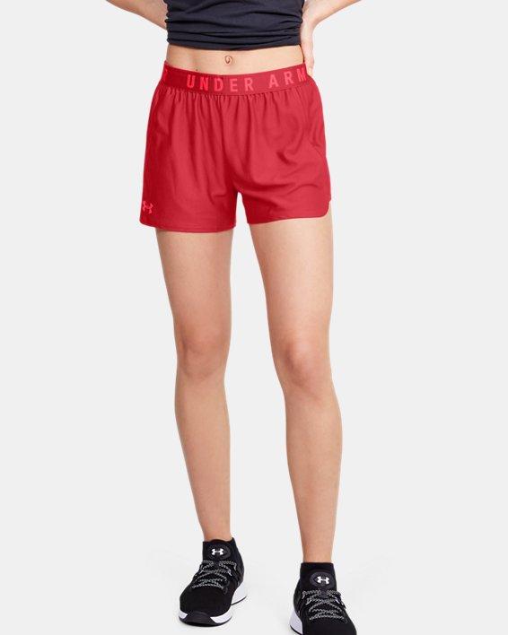 Women's UA Play Up 2.0 Shorts, Red, pdpMainDesktop image number 1
