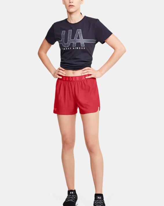 Women's UA Play Up 2.0 Shorts, Red, pdpMainDesktop image number 0