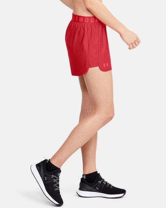 Women's UA Play Up 2.0 Shorts, Red, pdpMainDesktop image number 3