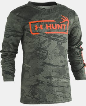 Boys' Pre-School UA Reaper Hunt Logo Long Sleeve  1  Color Available $30