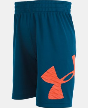 New Arrival Boys' Pre-School UA Mesh Logo Striker Shorts  1  Color Available $22