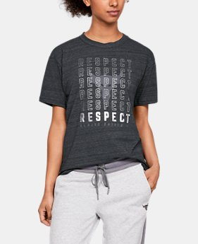Women's UA x Project Rock Respect Graphic Girlfriend Crew Shirt  2  Colors Available $50
