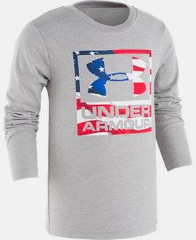 New Arrival Boys' Pre-School UA Flag Wordmark Icon SQ Long Sleeve  1  Color Available $23